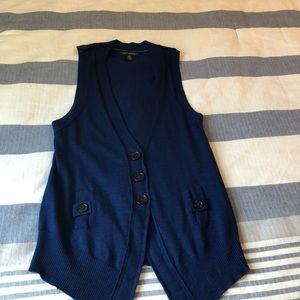 Banana republic blue XS merino wool sweater vest